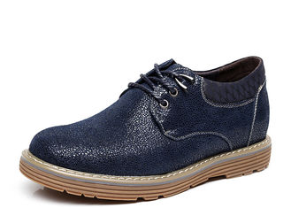 Cushioning Mens Height Increasing Shoes , Outdoor Fashion Mens Casual Oxford Shoes
